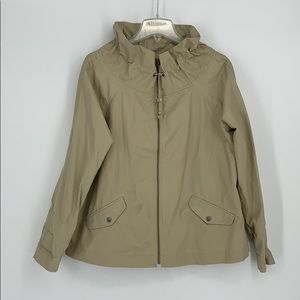Liz Claiborne Khaki Full Zip Coat Size XL